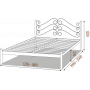 Кровать металлическая АДЕЛЬМеталлдизайн