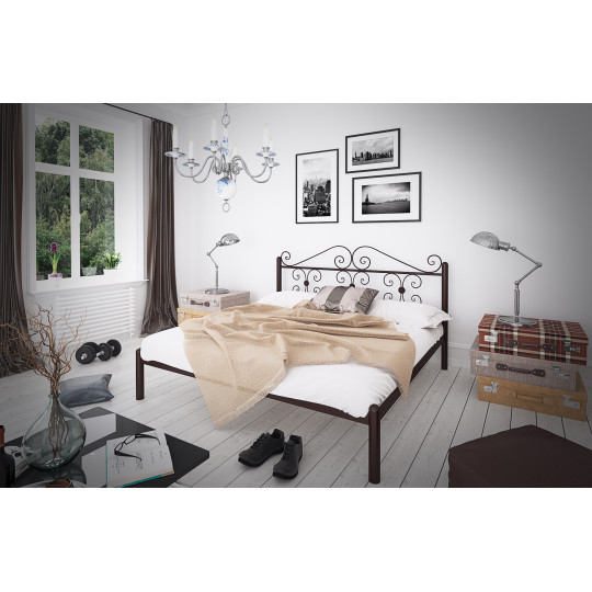 Кровать металлическая БегонияTENERO