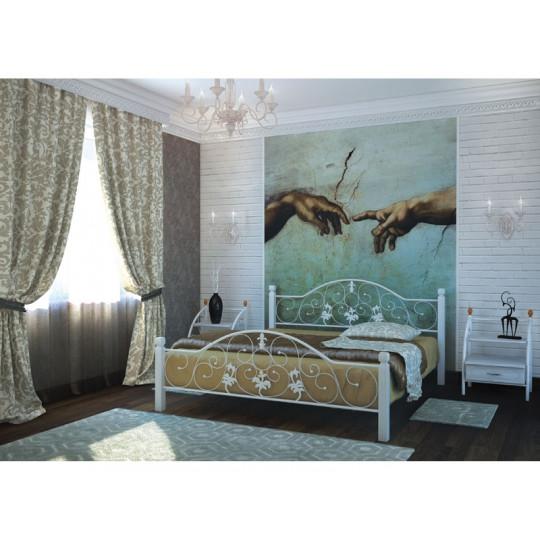 Кровать металлическая Жозефина на деревянных ножкахМеталлдизайн