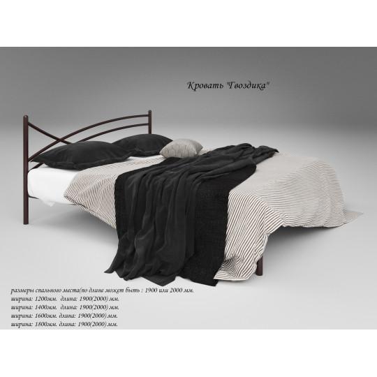 Кровать металлическая Гвоздика