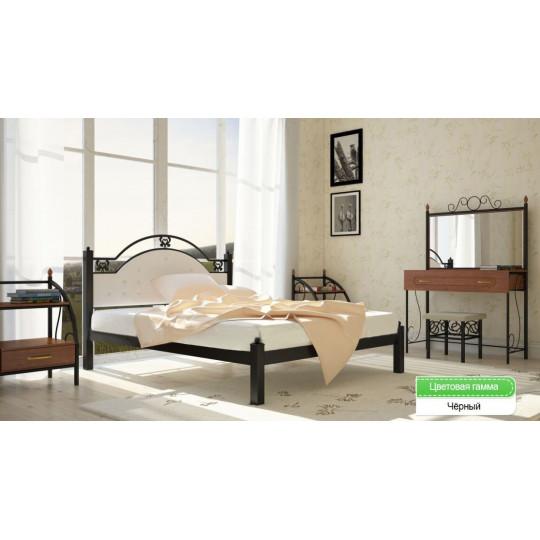 Кровать металлическая ЭСМЕРАЛЬДА на ламелях