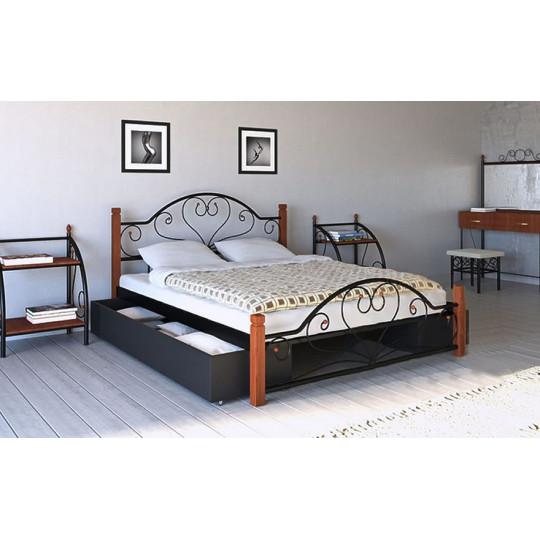 Кровать металлическая Джоконда на деревянных ножкахМеталлдизайн