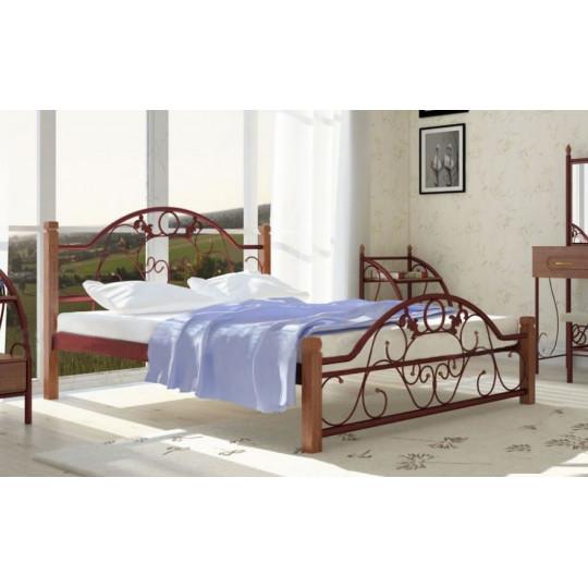 Кровать металлическая Франческа на деревянных ножкахМеталлдизайн