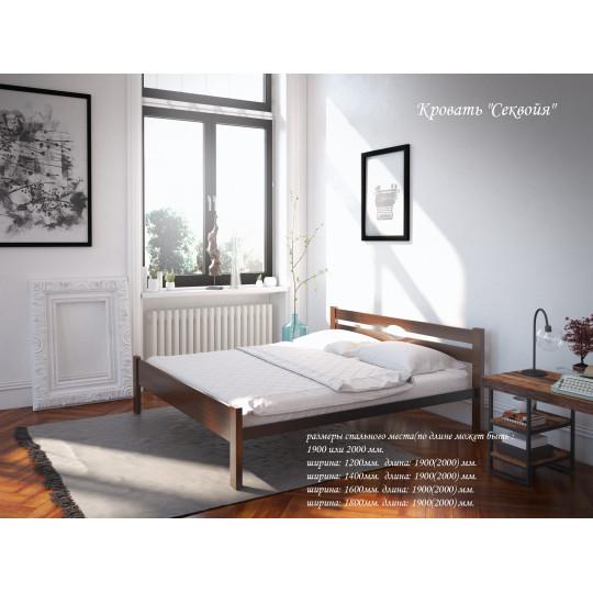 Кровать деревянная с металлическим основанием Секвойя