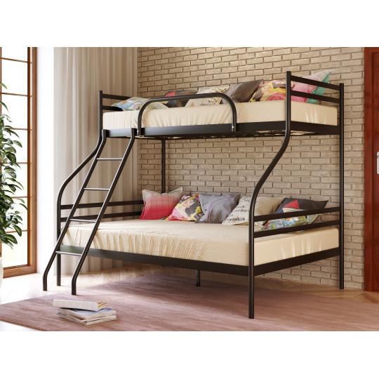 Кровать двухярусная Smart с разной шириной ярусовМетакам