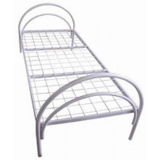 Кровать металлическая с полукруглыми быльцамиМебель Гост